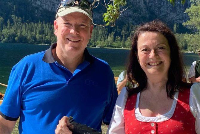 Fürst Albert von Monaco und Christine Lackner